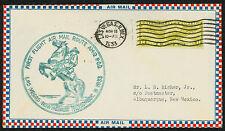 1933 FIRST FLIGHT AIR MAIL ROUTE AM 12 LAS VEGAS, NM TO ALBUQUERQUE (ESP#1573)