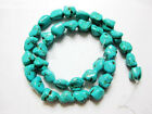 Howlite Turquoise Gemstone 6/8mm Freeformed Nugget Loose Beads 16'' Strand