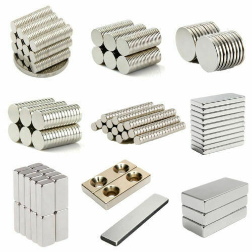 1-100X Powerful Super Strong N50 Magnet Rare Earth Neodymium Cylinder Magnet Set