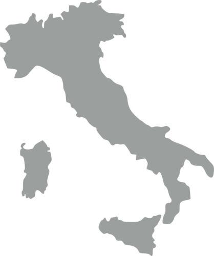 Italien Länder Umriss Aufkleber Auto Beschriftung Schriftzug 10x12cm Farbausw.