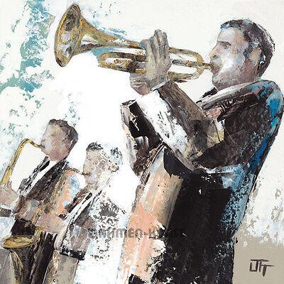 Bernard Ott: Le trompettiste Musiker Musik Fertig-Bild 30x30 Wandbild