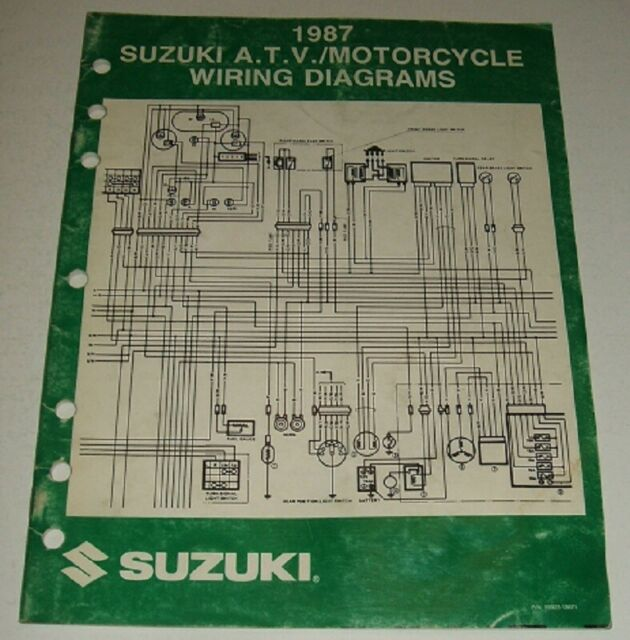 1987 Suzuki Wiring Diagram Manual Gsxr Dr Vs Gs 125 450