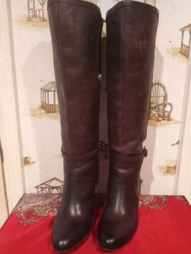 CIRCA JOAN AND DAVID LUXE KNEE HIGH BOOTS.