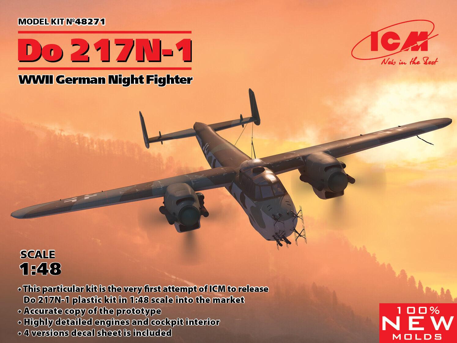 nueva gama alta exclusiva Icm 1 48 Dornier Do-217N-1 Seconda Guerra Mondiale Mondiale Mondiale Tedesco Night Fighter  48271  100% precio garantizado