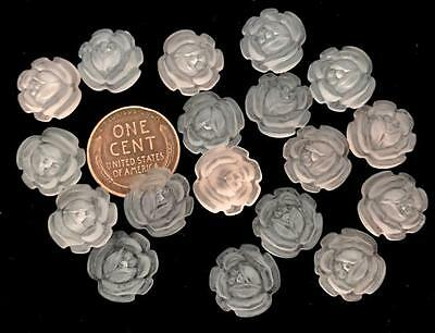 Vintage 13mm Frosted Lucite Flower Cabs 18