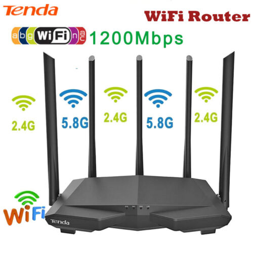 Tenda AC7 1200Mbps Wireless WiFi Router 2.4G//5G Dual Band APP Remote Repeater