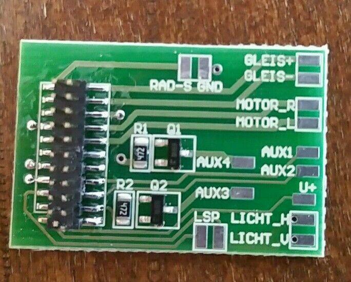 10 adaptador placas 21mtc, con aux3 y aux4 (10 unidad)