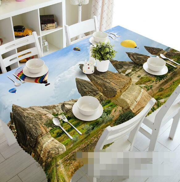 3D Stones Hills 7 Tablecloth Table Cover Cloth Birthday Party Event AJ WALLPAPER