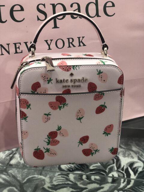 NWT Kate Spade Wild Strawberries Vanity Leather crossbody bag Purse TRENDING