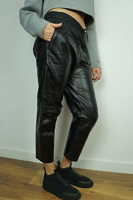 NEW H/&M ALEXANDER WANG PANTS LEATHER JOGGING TROUSERS US 8 10 12  38 40 42