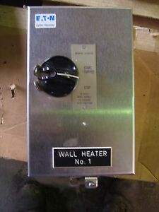 cutler hammer manual motor starter b100 2 ebay rh ebay com Cutler Hammer Motor Starter Contacts Cutler Hammer Motor Starter Heaters Chart