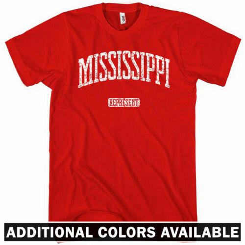 Mississippi Represent T-shirt Men S-4X Jackson Gulfport Southaven Bulldogs