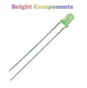 30-x-Green-LED-3mm-Resistors-5v-9v-or-12v-1st-CLASS-POST