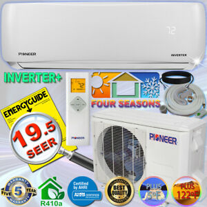 PIONEER-12000-BTU-19-SEER-DC-Inverter-Mini-Split-Heat-Pump-Set-120V-10-039-Kit