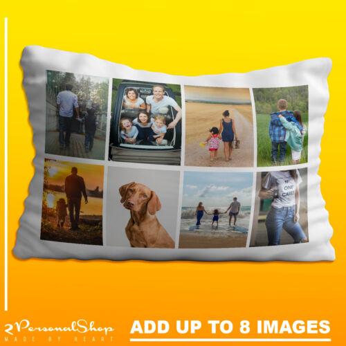 Foto Personalizado Funda de Almohada Cojín Almohada Funda Regalo Personalizado hasta 8 Fotos
