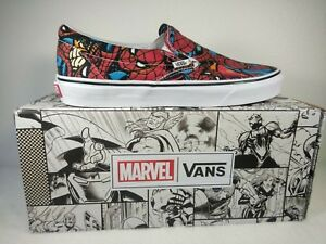 Details about Vans x Marvel SPIDERMAN Slip On Shoes (NEW) Mens Sizes 4 13 SPIDER MAN Free Ship