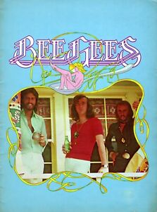 """BEE GEES 1975 """"MAIN COURSE"""" TOUR CONCERT PROGRAM BOOK-BARRY GIBB & GIBB BROTHERS"""
