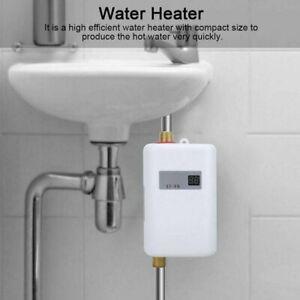 Electric Instant Hot Water Heater Tankless Under Sink Tap Bathroom Kitchen White Ebay