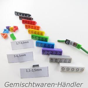 Kabelmarker-Kabelmarkierer-Zahlen-Beschriften-Kabelbeschriftung-Clip-Kabel-Farbe