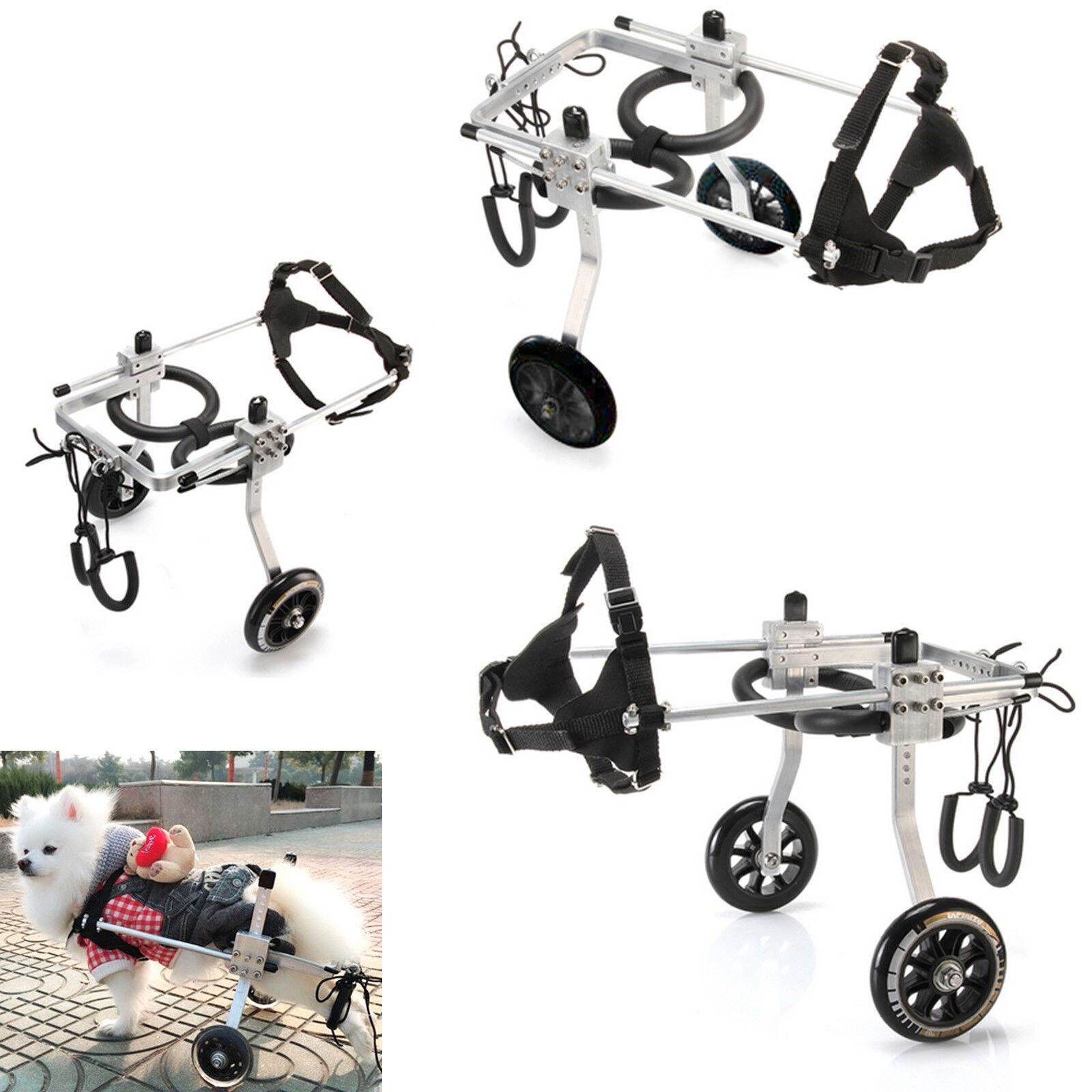 Lightweight Aluminum Cart Cat Pet Dog Wheelchair For Handicapped Pet Dog Walk