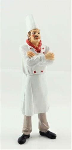CASA delle Bambole Chef IN BIANCO /& ROSSO FIOCCHETTO resina uomo Figura Persone