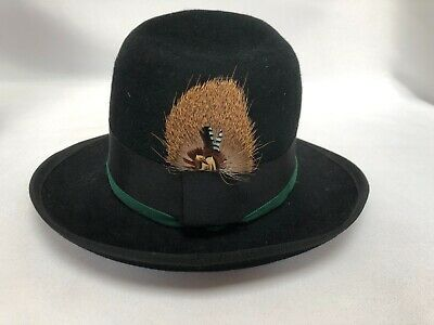 Chapeau Saint Laurent Rive Gauche Paris Made In France Feutre Et Plume