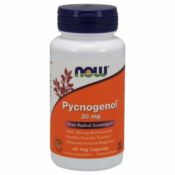 Pycnogenol 60 Caps 30 mg by Now Foods