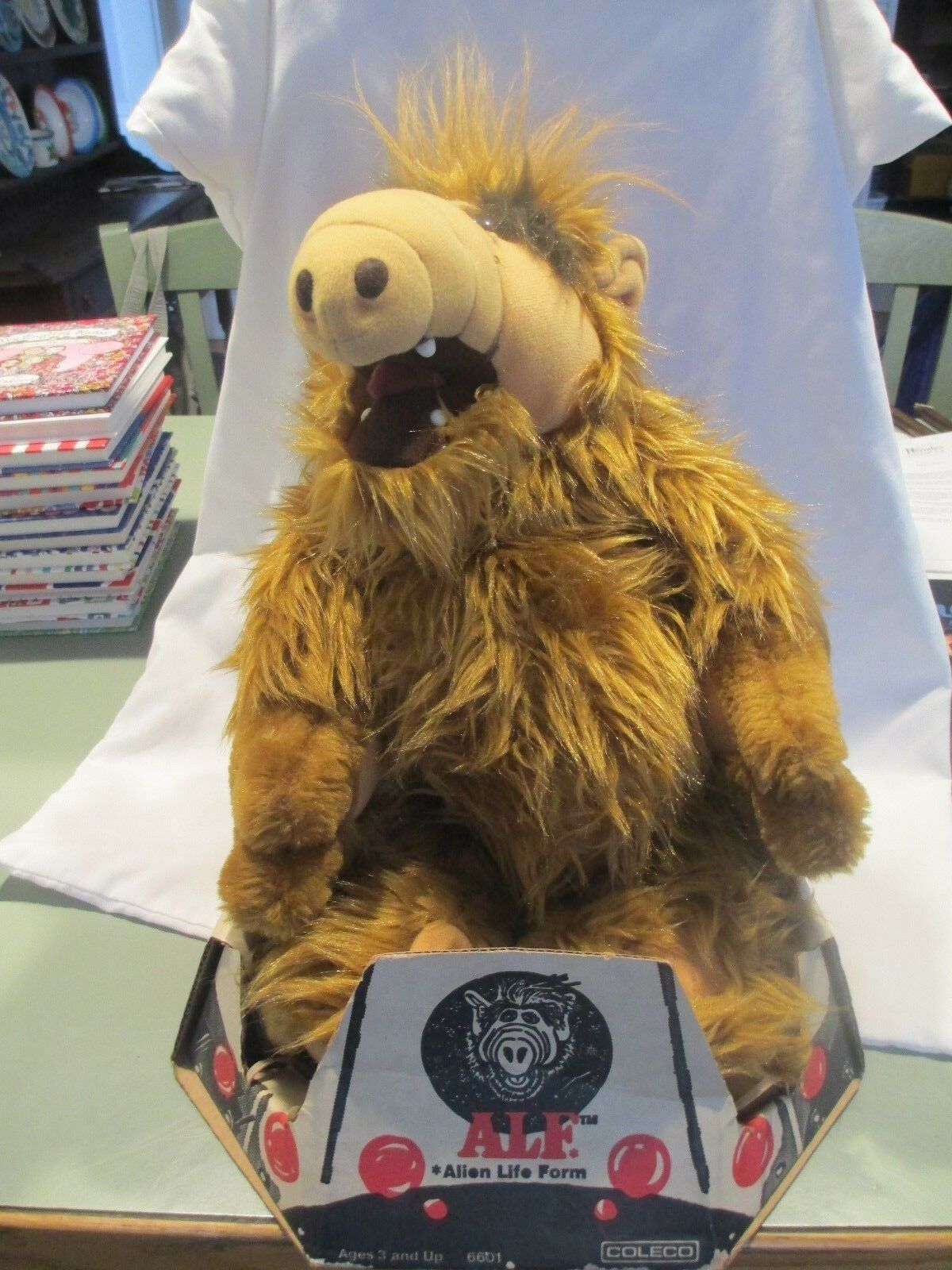 1986 Alf Alien Plush Toy Spaceship Box 18  Coleco 6601 stuffed animal life form