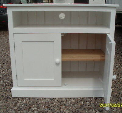 Tall Tv Unit Telephone Table With Cupboard Uk Hand Made Painted Ebay