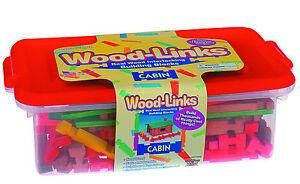 Roy Toy Woodlinks Log Cabin Building Set, item #97006