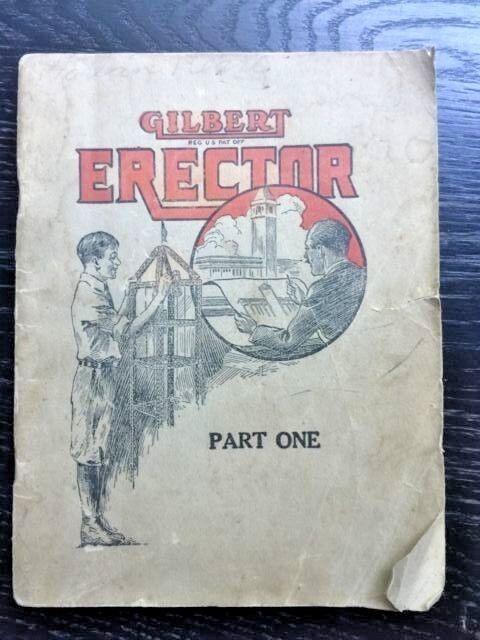 GILFERT Erector konstruktion (omslagets titel  EREKTOR Del Ett) 1921 Original 64pp