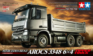 Tamiya 1 14 RC Truck - Camion MB Actros 3348 3 essieux Benne Arrière #300056357