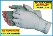GLACIER ASCENSION FINGERLESS FISHING SUN GLOVES SIZE XL 007GP +50UPF ASCENCION