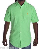 Polo Ralph Lauren Men's $85 Classic Green Button Up Shirt Size Small