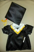Teddy Bear Graduation Cap & Gown Clothes Fit 14-18 Build-a-bear