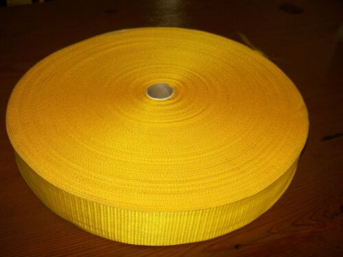 "1 50mtr ROLL 50mm 2"" POLYPROPOLENE WEBBING YELLOW"