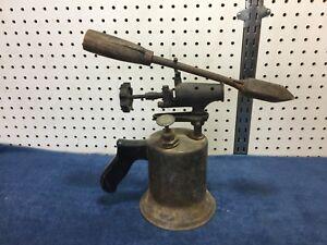 Vintage-Craftsman-Wood-Handled-Blow-Torch-amp-Copper-Iron