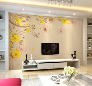 3D Yellow Squid 569 Wallpaper Murals Wall Print Wallpaper Mural AJ WALL AU Kyra