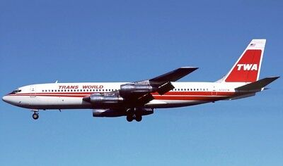 INFLIGHT 200 IF70711117 1//200 TWA BOEING 707-131B N799TW WITH STAND