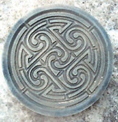 """Celtic knot plaque plastic mold for plaster concrete  10"""" x 3/4"""" thick"""