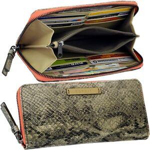ESPRIT-Monedero-de-mujer-MONEDERO-Serpiente-Serpiente-zip-purse-NUEVO