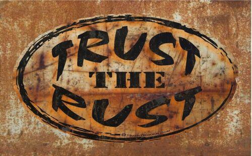 "ProSticker 721 4/""x7/"" Rat Rod /""Trust The Rust/"" Decal Sticker One"