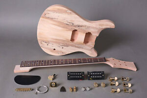 DIY-Guitar-Kit-Guitar-Kit-PRS-Mahogany-Spalted-Maple-Gold-Hardware
