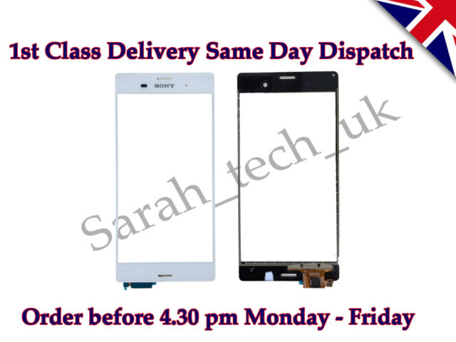 New Sony Xperia Z3 D6603 D6643 D6653 Touch Screen Digitizer Glass Lens White