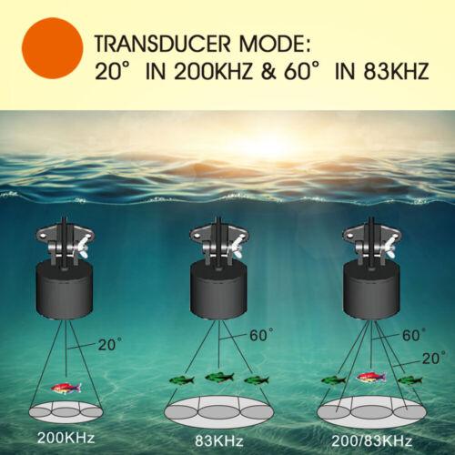 Lucky Protable Fish Finder 100M Depth Sonar Sensor Echo Sounder For Ice Fishing