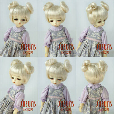 """5-6/"""" Fraga Long Doll Wigs 1//8 Lati Yellow Synthetic Mohair BJD Doll Accessories"""