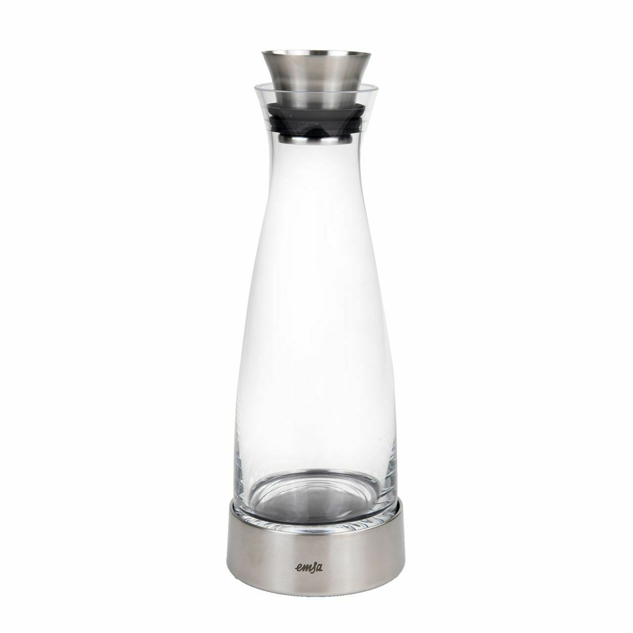 EMSA Flow Classic Kühlkaraffe 1,0 L Glas Edelstahl
