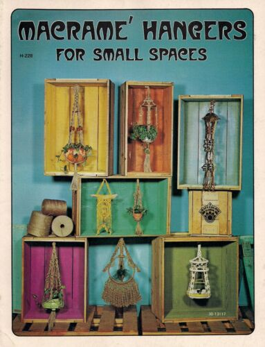 Craft Book Plant Hangers /& More # H228 Macrame Hangers for Small Spaces