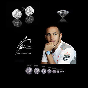 Men-s-Boy-s-Lewis-Hamilton-9ct-Silver-Plated-Diamond-Crystal-Gemstone-Earrings