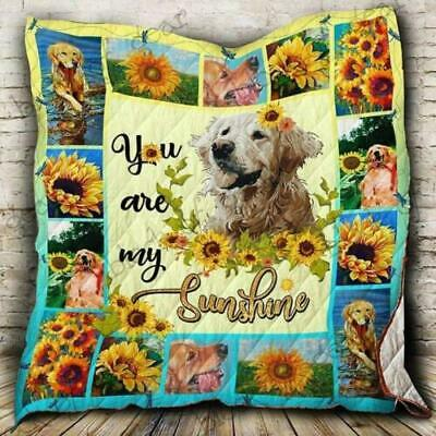 Golden Retriever Sunflower You Re My Sunshine Fleece